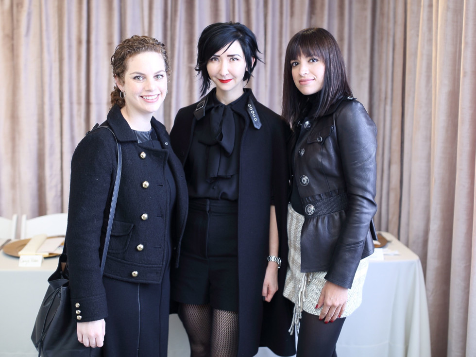 Emily Schreiber, Carrie Brandsberg-Dahl, Sandra Manela at Miles David fashion show