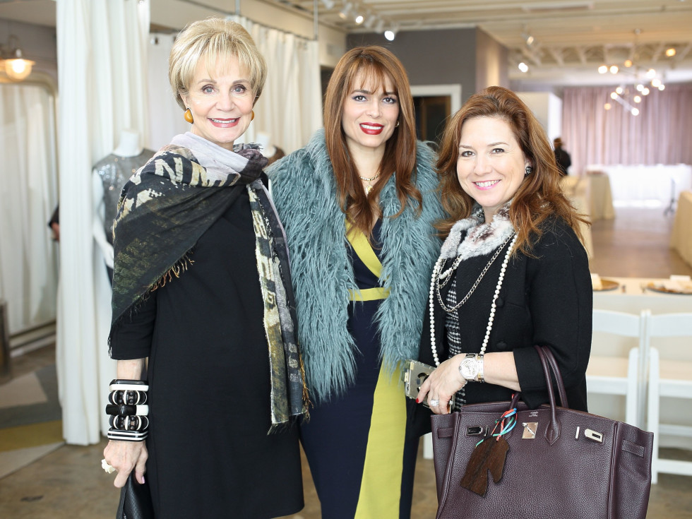 Leisa Holland Nelson, Karina Barberi, Donae Chramosta at Miles David fashion show