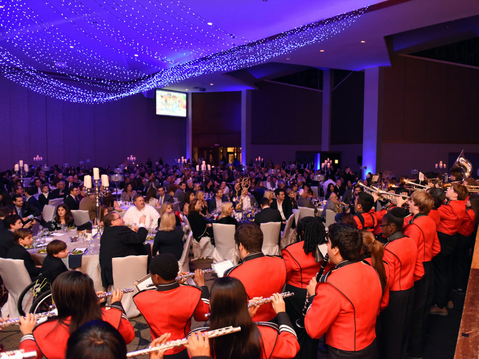Houston, Beth Yeshurun Day School gala, December 2015, auditorium and decor