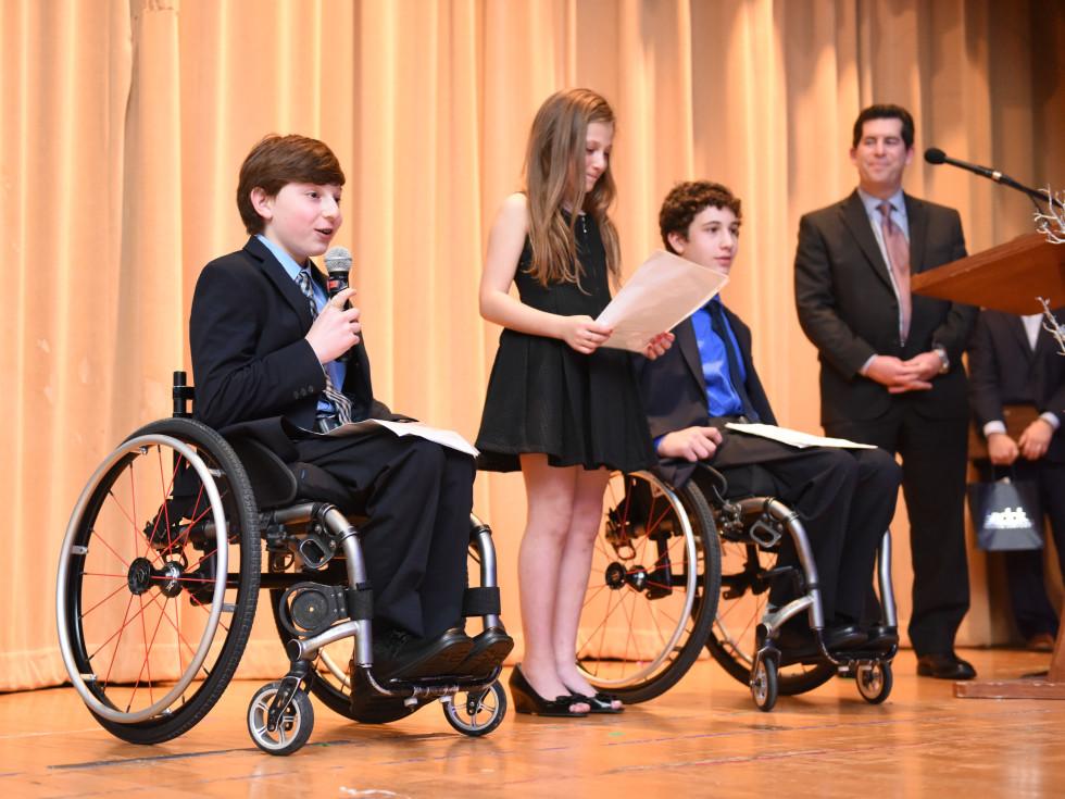 Houston, Beth Yeshurun Day School gala, December 2015, Aaron Berry, Willa Berry, Peter Berry, Rabbi Brian Strauss