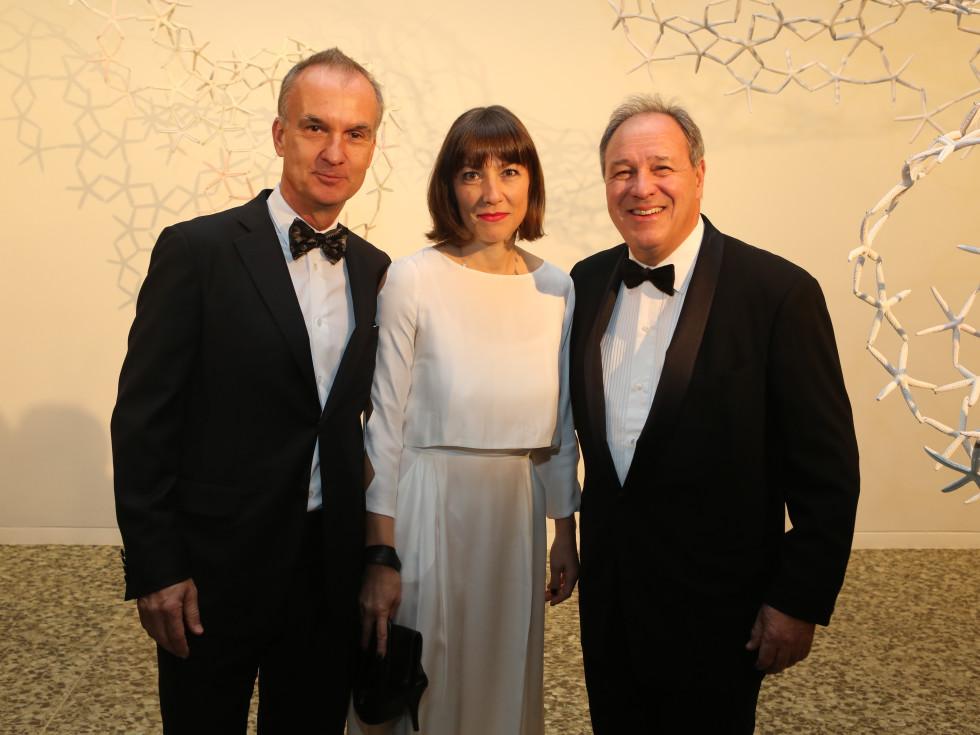 News, MFAH Latin Experience, Nov. 2015 Lawrence Luhring; Sylvie Christophe; Roland Augustine