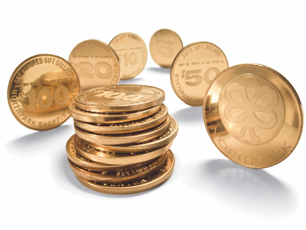 NorthPark Gold gift coins