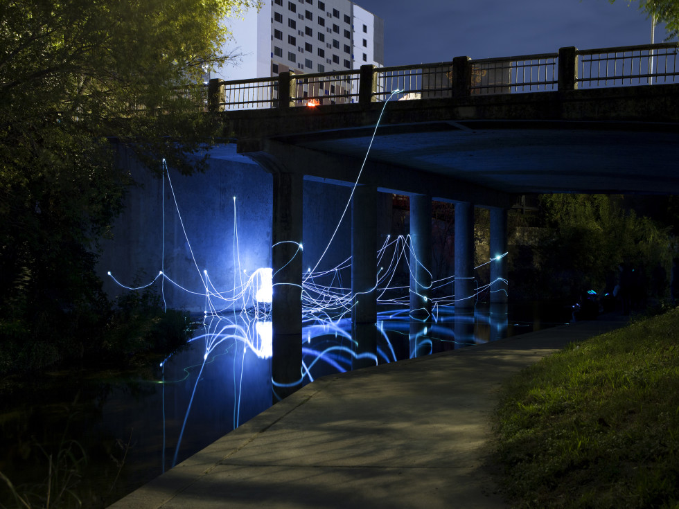 Waller Creek Light Show