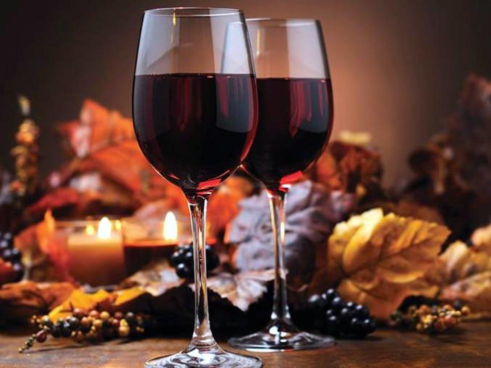 Houston, Thanksgiving, November 2015, glass of wine