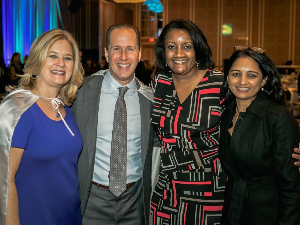 Cochairs Jane and Michael Hurst with Angela Woodson, Preeti Jayaseelan