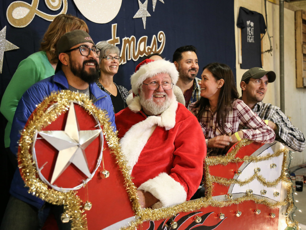 Santa photo booth at Meat Fight 2015