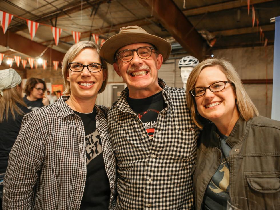Courtney Luscher, Brian Luscher, and Marta Sprague at Meat Fight 2015