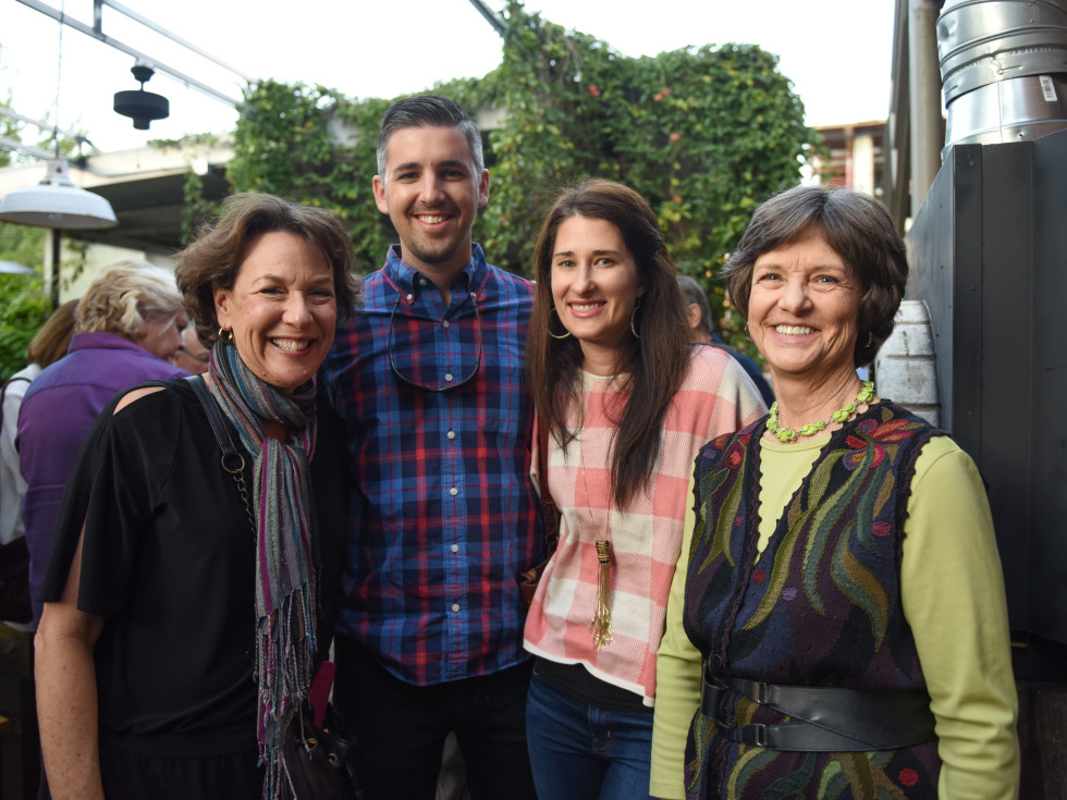 Urban Harvest dinner Sandra Wicoff, Will Thompson, Laura Thompson, Garland Kerr