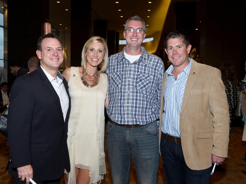 Jeff and Erin King, Jason Wilson, Doug Comings