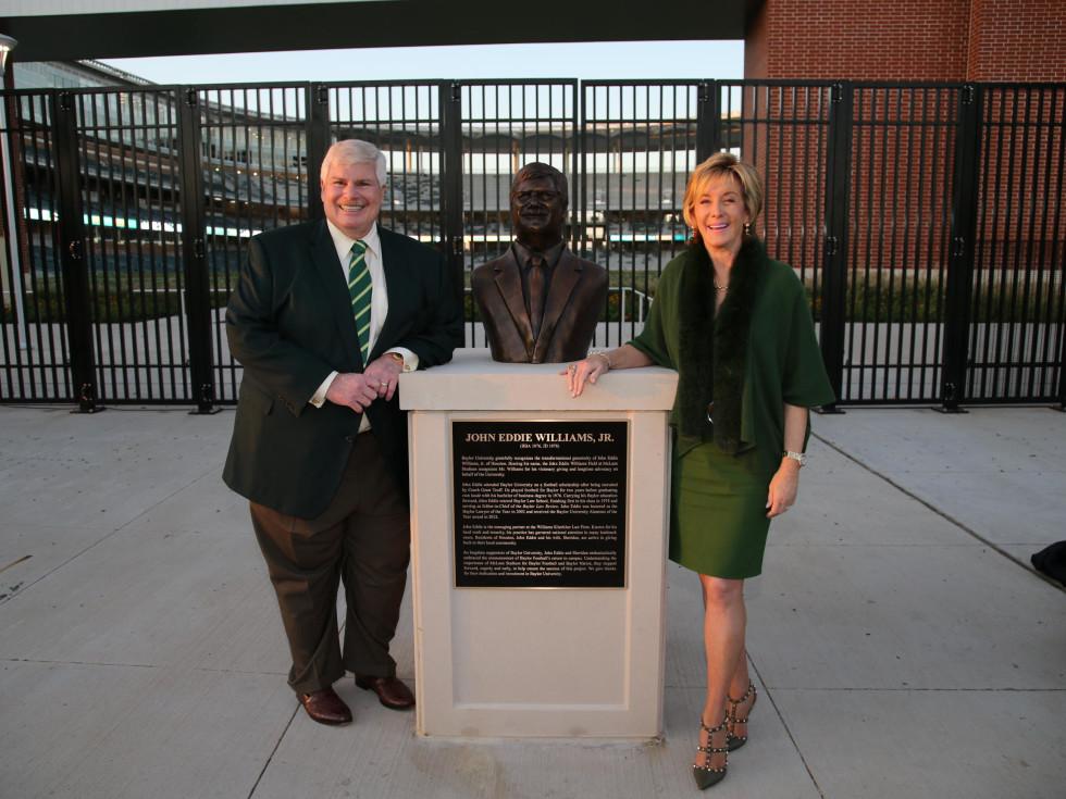 News, Shelby, John Eddie Williams Statue event, Nov. 2015