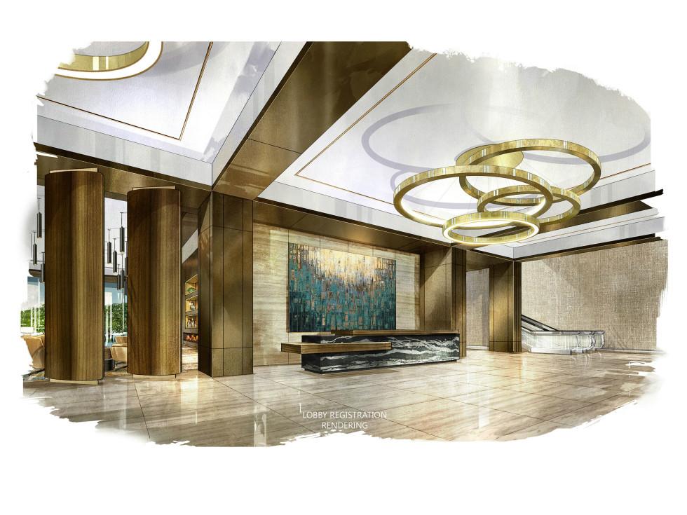 Omni Frisco lobby rendering