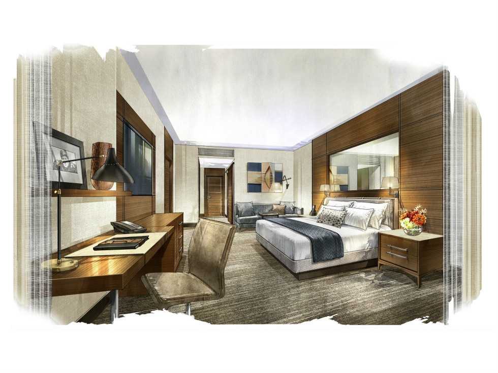 Omni Frisco guestroom rendering