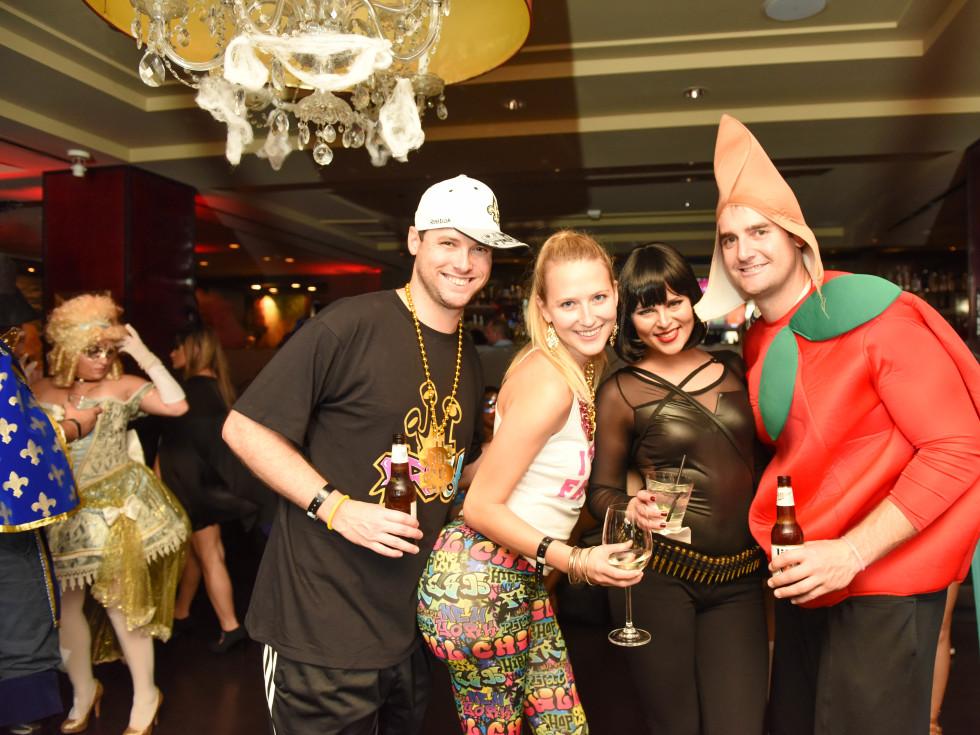News, Shelby, Hotel ZaZa Halloween, Oct. 2015 Cole Sanches, Lauren Sanches, Stephanie Marichal, Drew Oldis