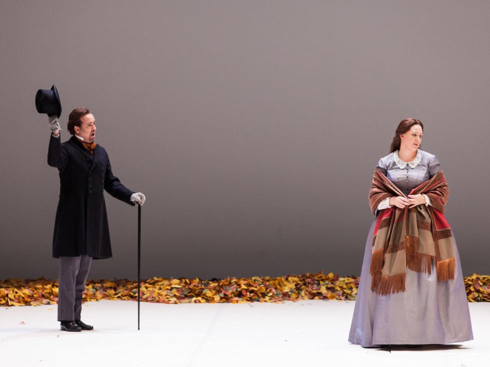 Scott Hendricks and Katie von Kooten in Houston Grand Opera production of Eugene Onegin,