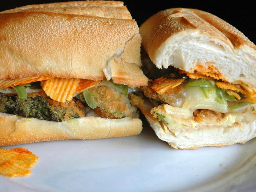 No. 7 Sub New York City zucchini parm sub sandwich 2015
