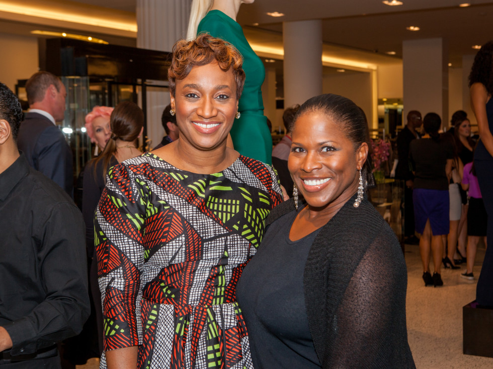 Andrea Bonner, Shandolyn Arline-Johnson at Heart of Fashion kickoff party