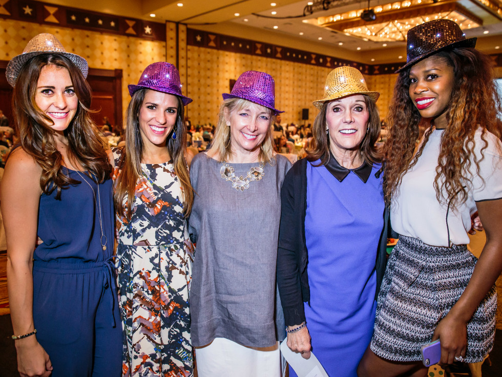 PlayBingo Ladies Luncheon Colleen McCarthy, Christa Mitzkat, Katrine Formby, Terry Matthews, and Yanelys Thompson October 2015