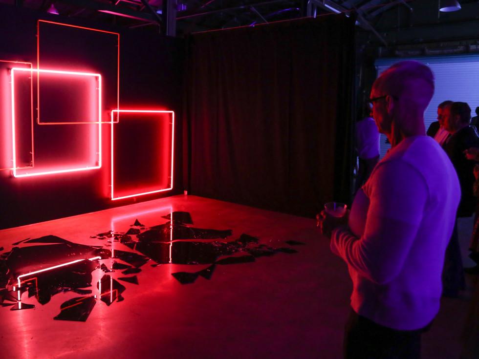 POP Austin International Art Show at Fair Market Constellation by Lori Hersberger