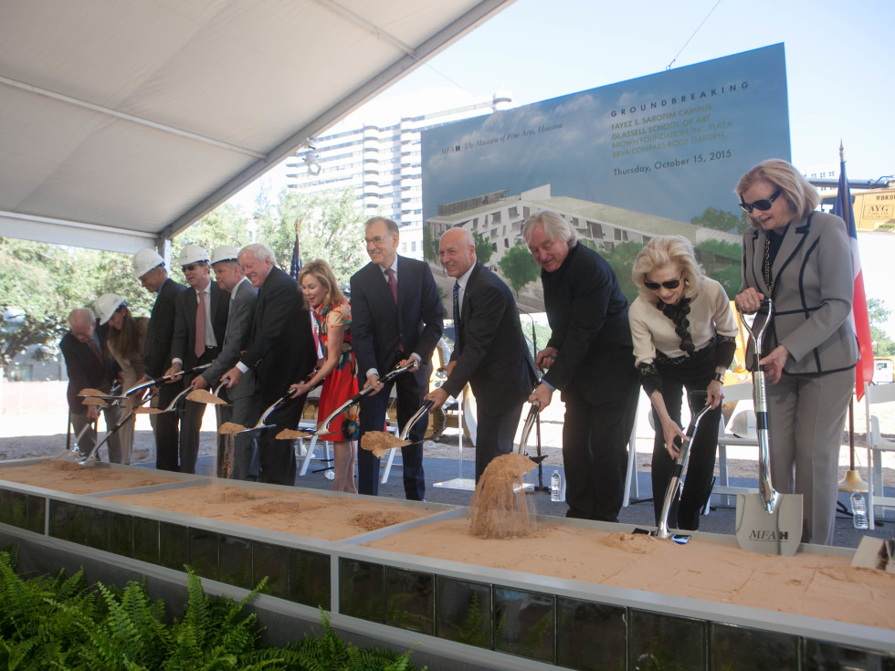 Donors participate in groundbreaking for Museum of Fine Arts Fayez S. Sarofim Campus and the new Glassell School of Art