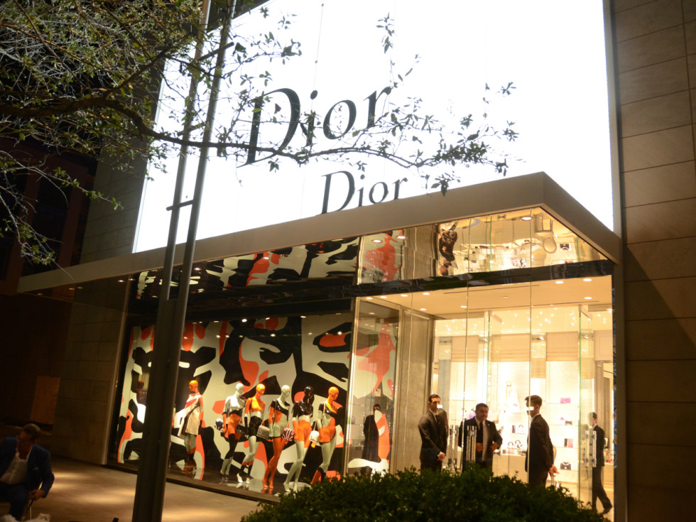 Dior grand opening storefront River Oaks District