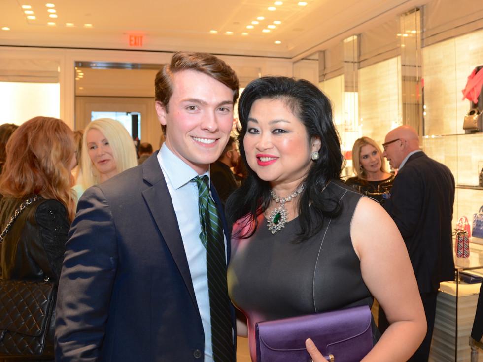 Dior grand opening William Finnorn, Gigi Huang