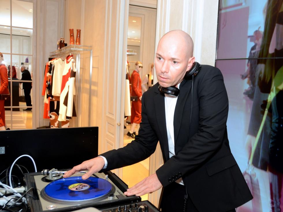 Dior grand opening DJ Dave Wrangle