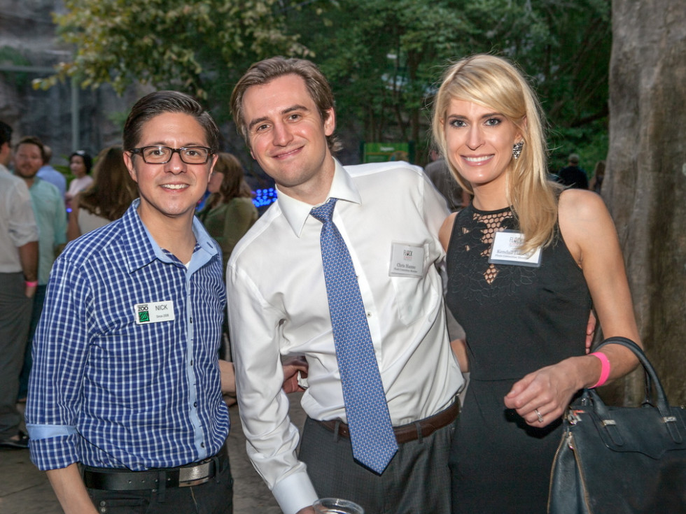 Houston Zoo YP Nick Espinosa, Chris and Kendall Hanno