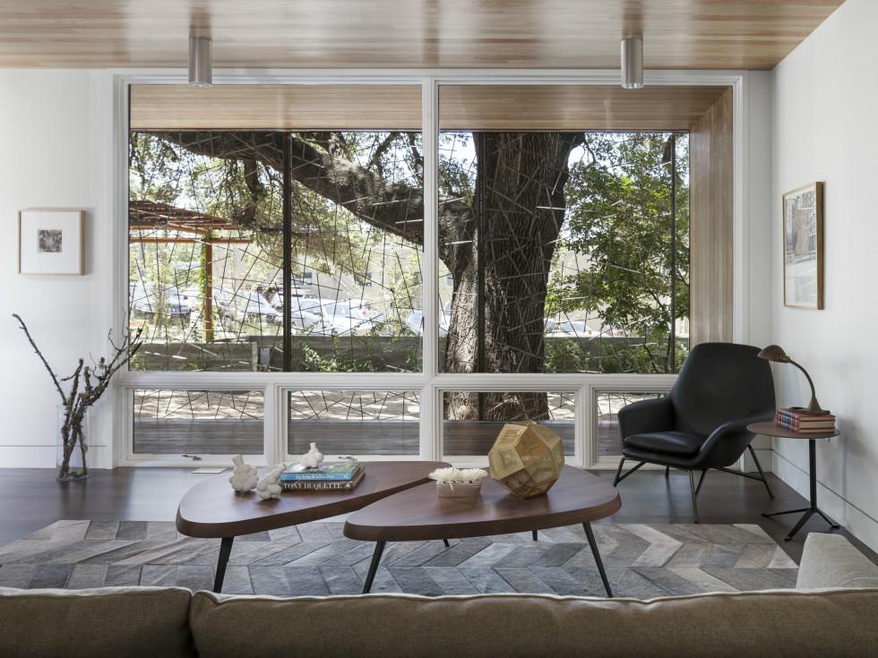 AIA Austin Homes Tour 2015 Charles Di Piazza & Chris Cobb living