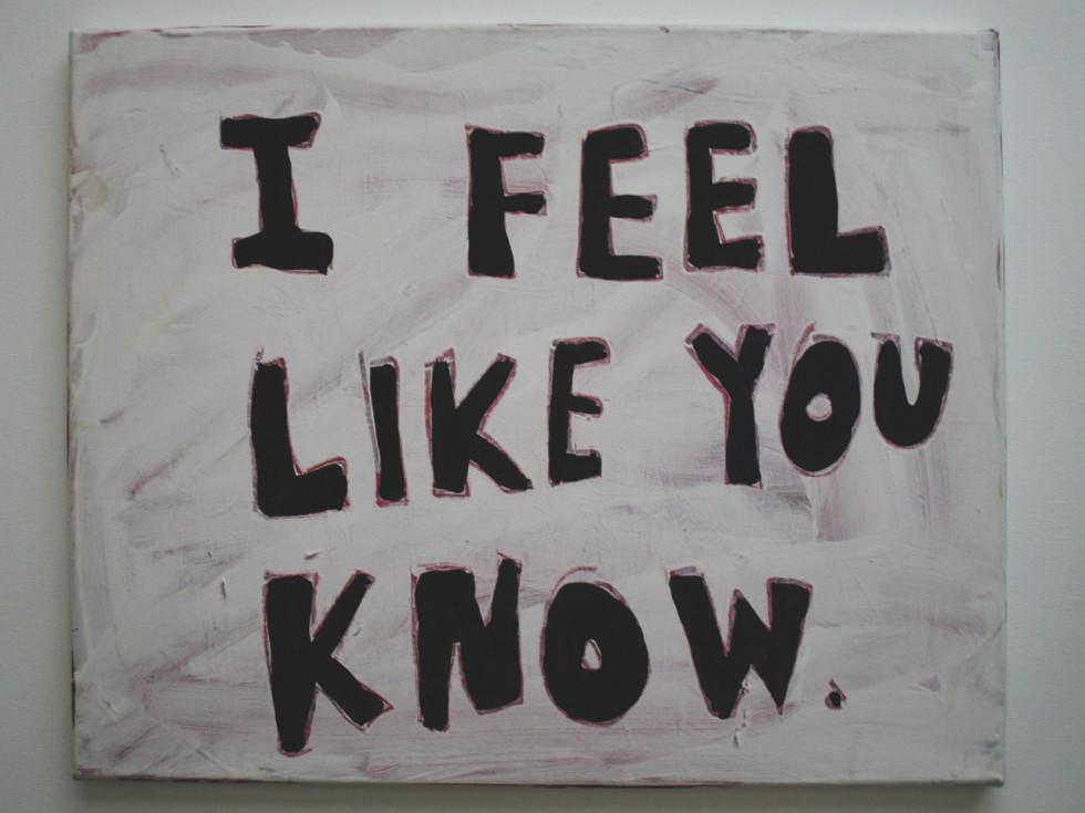 I Feel Like You Know by Christie Blizard