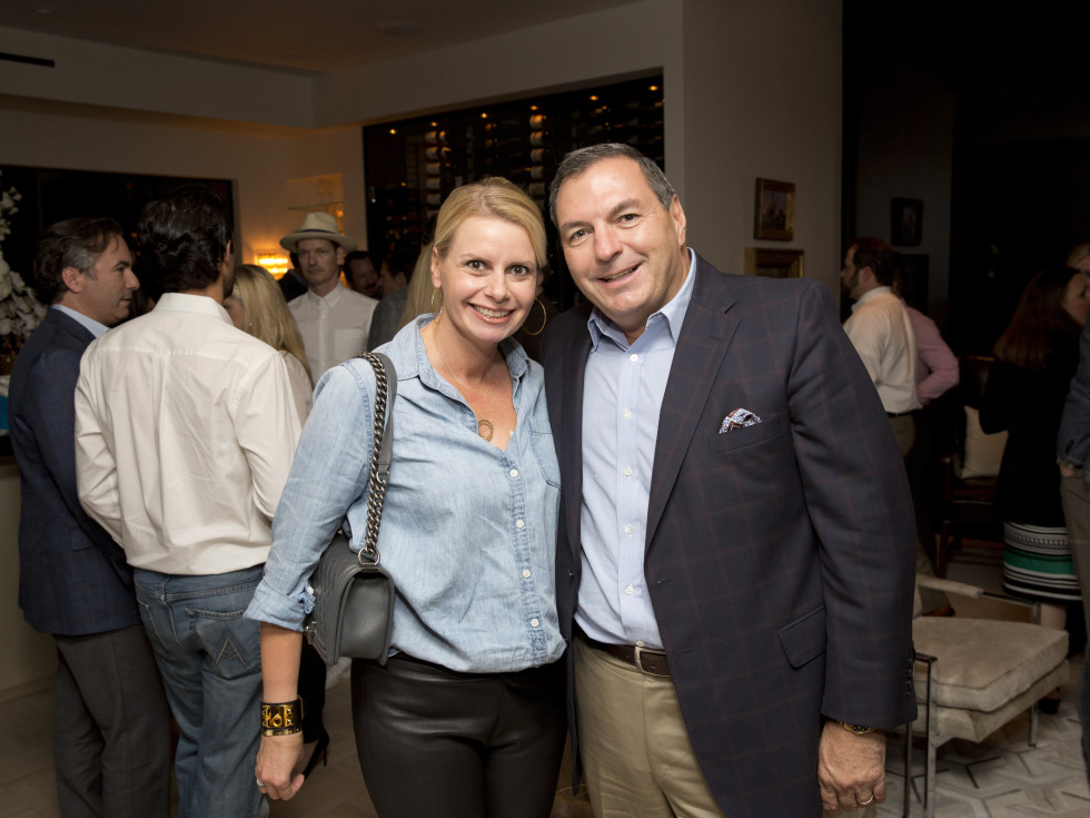 Houston, Casa Dragones launch party, October 2015, Valerie and Tracy Dieterich