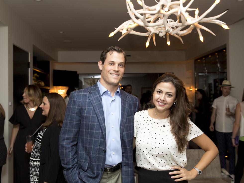 Houston, Casa Dragones launch party, October 2015, Nicolas Solich and Maria Carolina