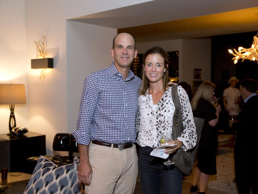 Houston, Casa Dragones launch party, October 2015, Michael and Leslie Fertitta