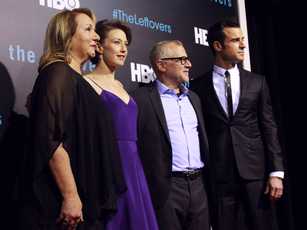 The Leftovers HBO Season 2 red carpet premiere Mimi Leder Carrie Coon Tom Perrotta Justin Theroux October 2015