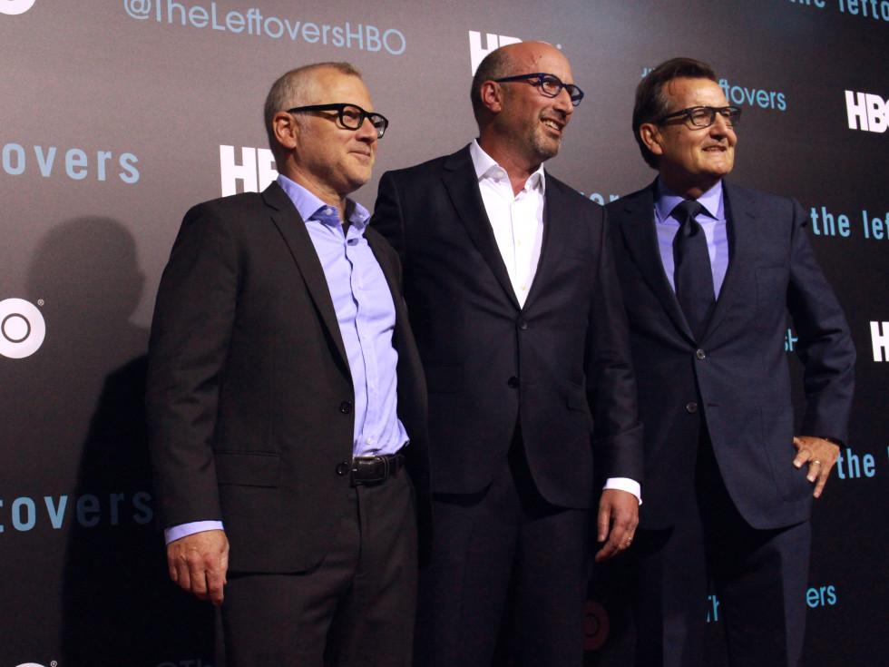 The Leftovers HBO Season 2 red carpet premiere Tom Perrotta Tom Spezialy Gene Kelly October 2015