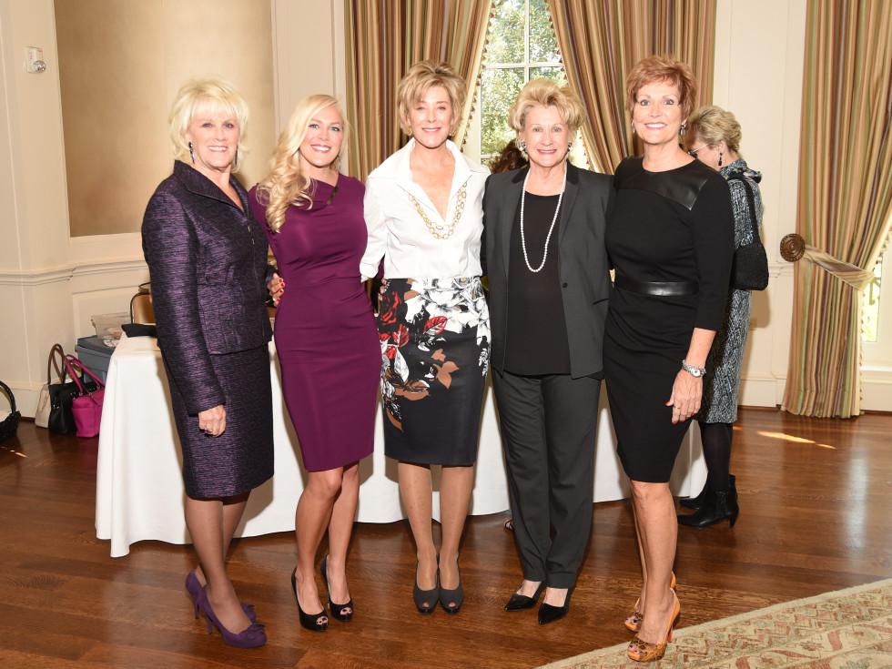 Assistance League Luncheon 2015 Liz Jameson, Jenny Price, Leila Gilbert, Ann Berry, Betty Puryear