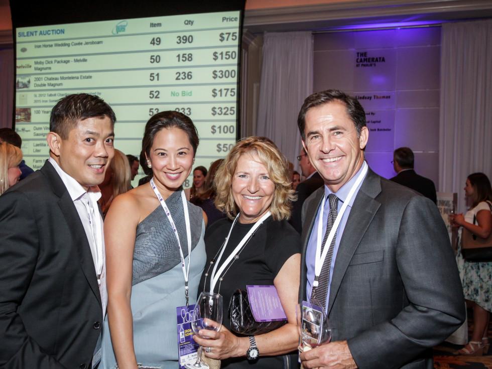Houston, Periwinkle Foundation Sommelier Competition, September 2015, Gilbert Chin; Melicia Tjoa; Michelle, Douglas De Filippi