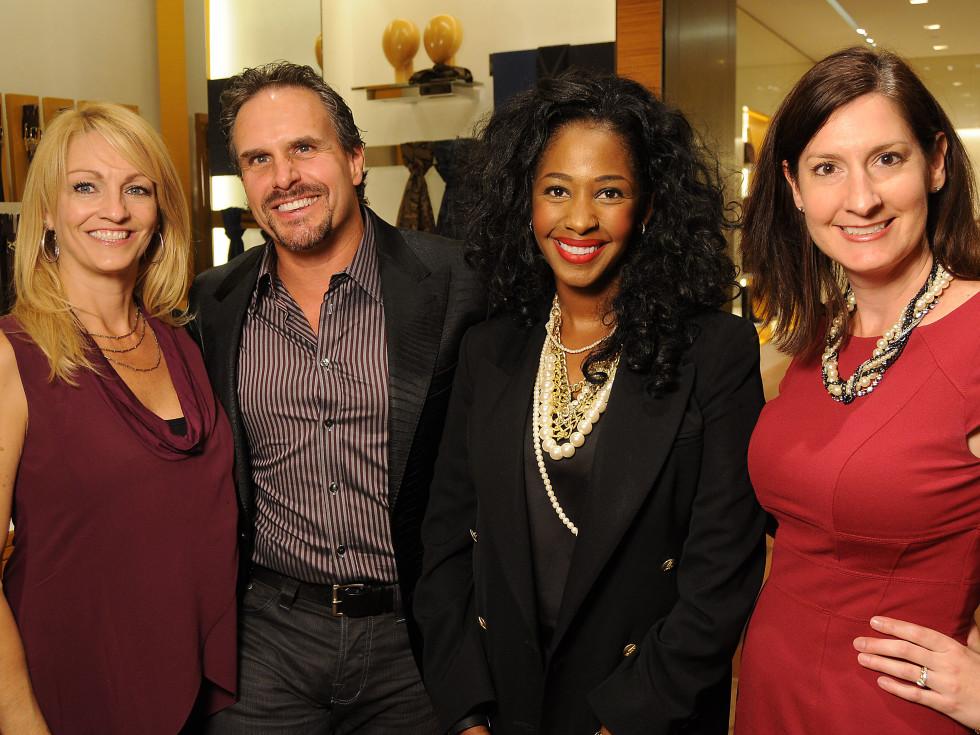 Houston, Louis Vuitton Alley Theatre Salute, September 2015, C.C. Ensell, Duke Ensell, Tanara Landor and Kathryn Straw