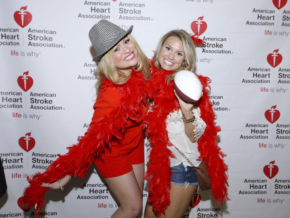 AHA YP mixer Lauren Scotton, Stacy Tyler