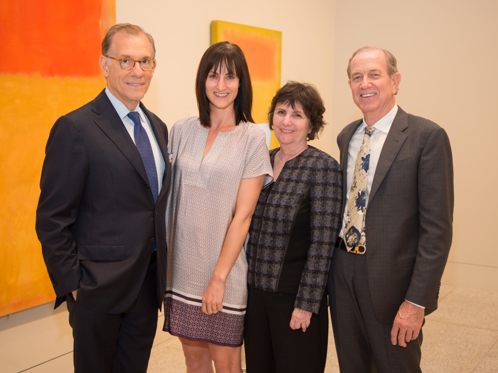 News, Shelby, MFAH Rothko opening, Sept. 2015 Gary Tinterow, Emily Church, Leslie Bucher Brad Bucher