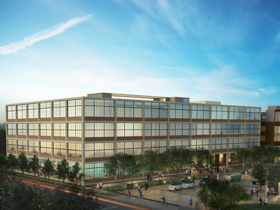 Saint Elmo Public Market rendering South Austin office building 2015