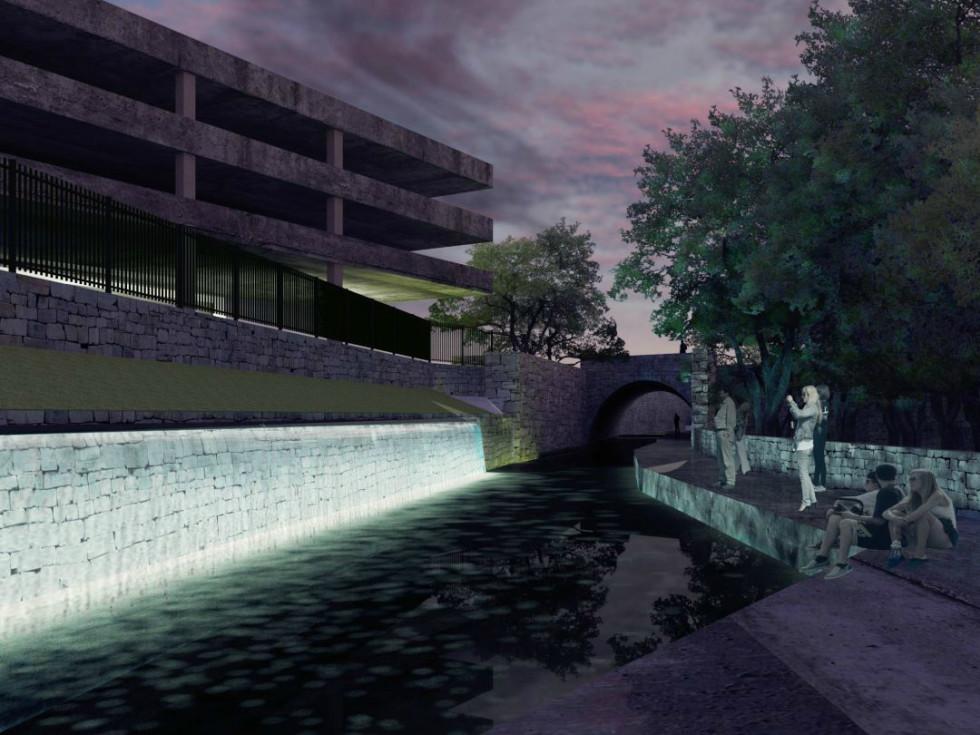Waller Creek Show 2015 Volume Specht Harpman Architects rendering 1