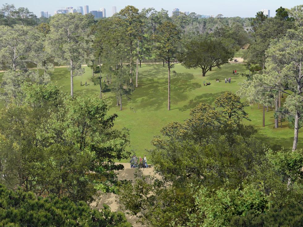 Memorial Park Master Plan rendering Eastern Glades