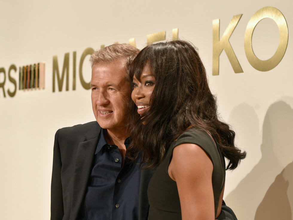 Naomi Campbell and Mario Testino at Michael Kors Gold fragrance launch