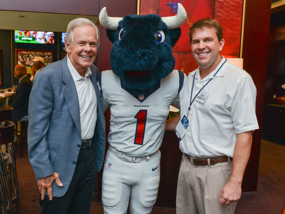 News, Shelby, Texans Owners suite, Sept. 2015, Jim Smith, Toro, Jim Smith Jr.