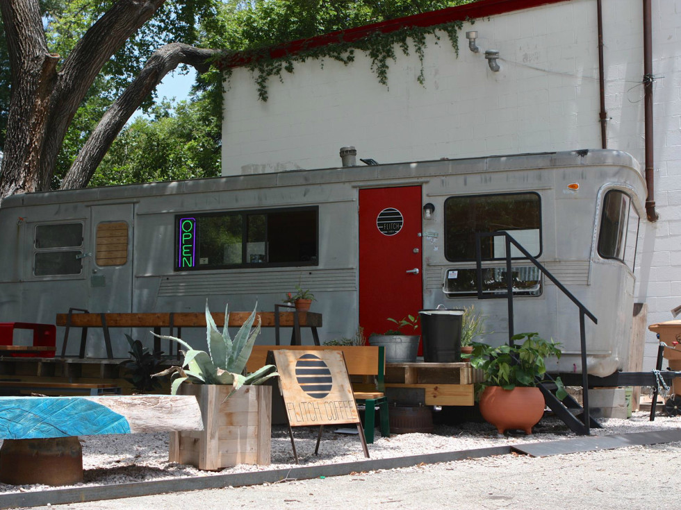 Flitch Coffee trailer Austin