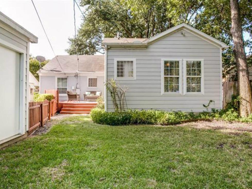 Backyard of 6051 Penrose Ave. in Dallas