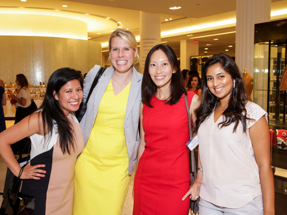 Houston, Ellevate event at Tootsies, August 2015, Betty Salanic, Amanda Hughes, Erlin Yeo Terwelp, Hemali Surana
