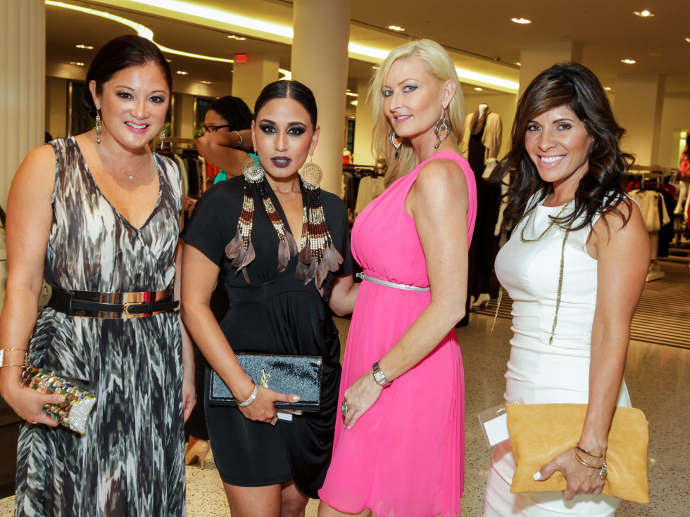 Houston, Ellevate event at Tootsies, August 2015, Angela Nichols, Neera Patidar, Angela Lipsey, Claudia Sierra