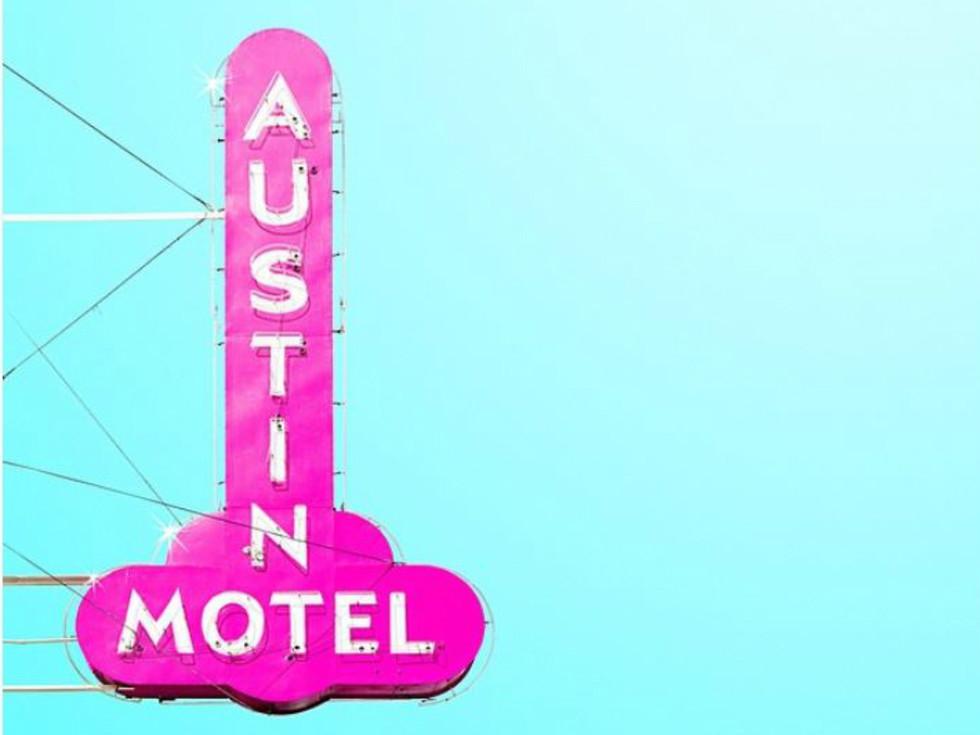 Matt Crump Austin photographer Candy Minimal Austin Motel sign South Congress