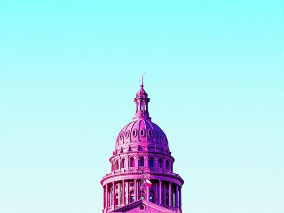 Matt Crump Austin photographer Candy Minimal Texas State Capitol building